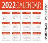 2022 calendar leaves set  ... | Shutterstock .eps vector #1987196954