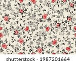 floral liberty pattern. plant...   Shutterstock .eps vector #1987201664