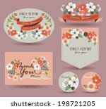 save the date card   vintage... | Shutterstock .eps vector #198721205