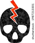 low poly death strike...   Shutterstock .eps vector #1987213301