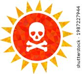 low poly death sun radiation...   Shutterstock .eps vector #1987227944