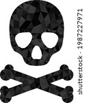 low poly death skull combined...   Shutterstock .eps vector #1987227971