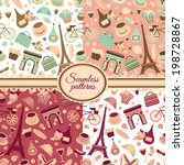 collection of seamless patterns ... | Shutterstock .eps vector #198728867