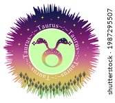 taurus moon sign. zodiac sign...   Shutterstock .eps vector #1987295507