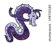 saxon dragon cartoon | Shutterstock . vector #198735185
