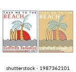 summer paradise vector print...   Shutterstock .eps vector #1987362101