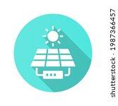 solar panel station icon....   Shutterstock .eps vector #1987366457