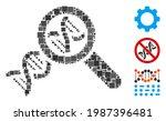 collage genetics icon organized ... | Shutterstock .eps vector #1987396481