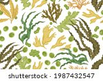 seamless botanical pattern with ...   Shutterstock .eps vector #1987432547