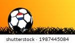 flat vector black grunge soccer ... | Shutterstock .eps vector #1987445084