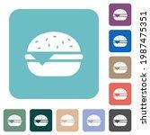 single cheeseburger white flat... | Shutterstock .eps vector #1987475351