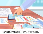 visualize with business... | Shutterstock .eps vector #1987496387