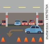 indoor parking with car  ...   Shutterstock .eps vector #198750764