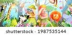 kids and children jungle... | Shutterstock .eps vector #1987535144