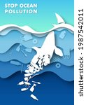 stop ocean pollution poster... | Shutterstock .eps vector #1987542011