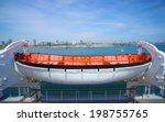 White And Orange Lifeboat Hang...