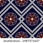 ethnic pattern vector... | Shutterstock .eps vector #1987571657