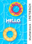 swimming pool summer background ...   Shutterstock .eps vector #1987583624