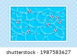 rectangular swimming pool with...   Shutterstock .eps vector #1987583627