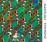 unusual psychedelic abstract... | Shutterstock .eps vector #1987616954