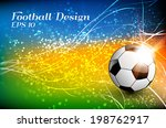 football background with soccer ... | Shutterstock .eps vector #198762917
