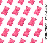 colorful sweet jelly bears ... | Shutterstock .eps vector #1987682864