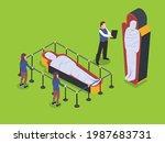 museum vector concept. visitors ... | Shutterstock .eps vector #1987683731