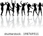 women silhouettes.  | Shutterstock .eps vector #198769511