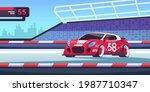 car race. cartoon sport... | Shutterstock .eps vector #1987710347