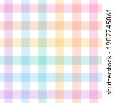 gingham check plaid pattern for ... | Shutterstock .eps vector #1987745861