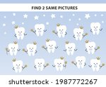 healthy tooth find two same... | Shutterstock .eps vector #1987772267