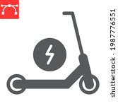 electric scooter glyph icon ... | Shutterstock .eps vector #1987776551