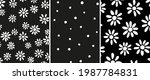 bundle of ditsy daisy and dots...   Shutterstock .eps vector #1987784831