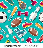 concept of sports equipment... | Shutterstock .eps vector #198778541