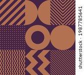 minimalistic geometric seamless ... | Shutterstock .eps vector #1987785641