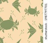 japanese origami seamless... | Shutterstock .eps vector #1987797701