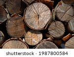 Stacked Firewood. Background An ...