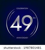 49th anniversary. forty nine... | Shutterstock .eps vector #1987801481