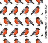 seamless pattern with birds ... | Shutterstock .eps vector #198786569