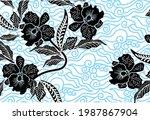 indonesian batik motifs with... | Shutterstock .eps vector #1987867904