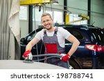cheerful serviceman performing... | Shutterstock . vector #198788741