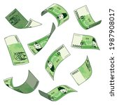 korean currency  a set of... | Shutterstock .eps vector #1987908017