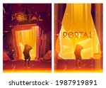 portal cartoon posters with...   Shutterstock .eps vector #1987919891