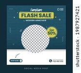 flash sale social media...   Shutterstock .eps vector #1987927421