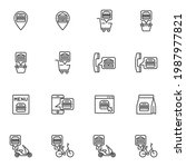 fast food ordering line icons... | Shutterstock .eps vector #1987977821