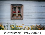 The Window Of An Old Wooden...