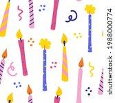 Birthday Candles Seamless...
