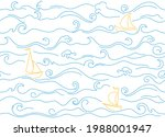 seamless pattern with drawn sea ...   Shutterstock .eps vector #1988001947