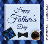 happy father's day vector... | Shutterstock .eps vector #1988005664