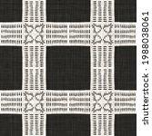 seamless black white woven...   Shutterstock . vector #1988038061